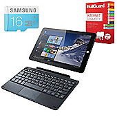 "Linx 1010B 10.1"" Tablet With Keyboard Intel Atom Z3735F 2GB 32GB Windows 10 With Antivirus & 16GB Micro SD Card"