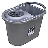 Tesco 14L Mop Bucket Silver