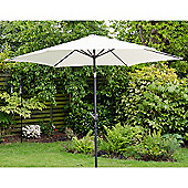 Henley 3m Crank And Tilt Garden Parasol Cream
