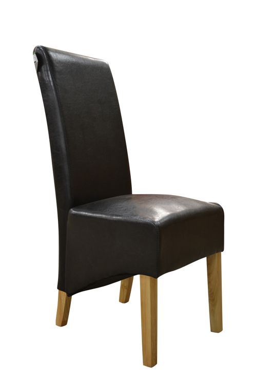 leather high back dining chair from our dining chairs range tesco