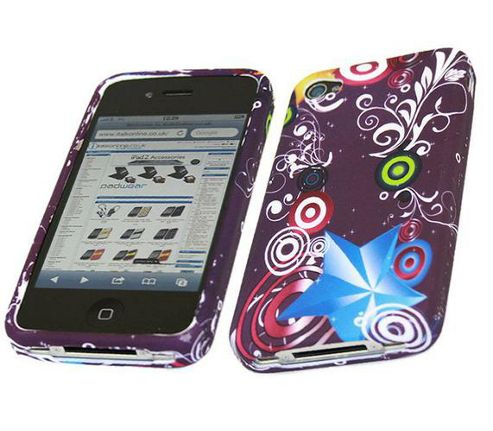 iTALKonline ProGel Printed Rave Power Skin Case - For  Apple iPhone 4