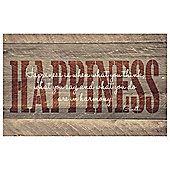 Happiness Canvas 80x50cm