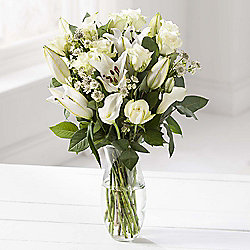 Scented White Oriental & Calla Lilly Bouquet