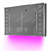 Ambient Demist Bathroom Cabinet With Sensor & Internal Shaver Socket K122P