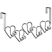 Hanger - Over Door Hanging Coat / Towel Rack - Silver