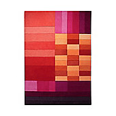 Esprit Various Box Red Contemporary Rug - 70cm x 140cm