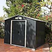 8ft x 10ft Anthracite Metal Shed (2.61m x 3.02m)