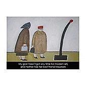 Holy Mackerel Modern art Greetings Card