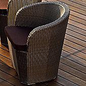 Varaschin Gardenia Chair by Varaschin R and D - Dark Brown - Panama Orange