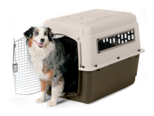 Petmate Large Vari Ultra Fashion Dog Kennel? in Bleached Linen and Beechnut