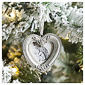 Weiste Silver Heart Frame Christmas Tree Decoration