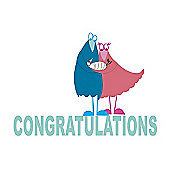 Holy Mackerel Greetings Card- Congratulations on your new baby