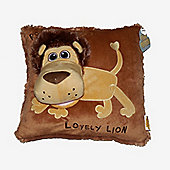 "15"" Hand Puppet Pillow in 3 Animal Designs - Lion"
