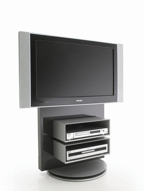 Luke Furniture TV Stand with Storage - Dark Grey