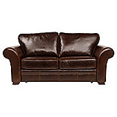 Aldeborough Leather Sofa Bed, Caramel
