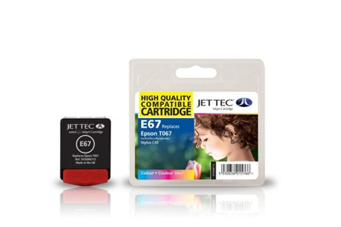 Epson T067 Colour Compatible Ink Cartridge by JetTec - E67