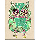 Owl LED Canvas Art - Battery Operated