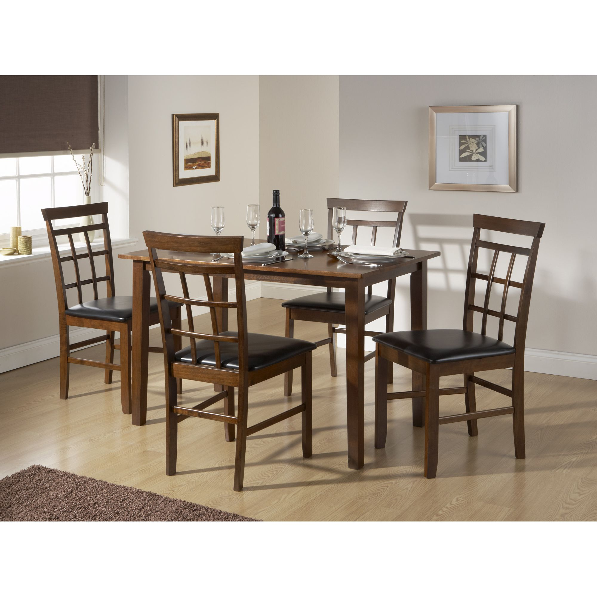 Elements Bude 5 Piece Dining Set - Walnut at Tesco Direct