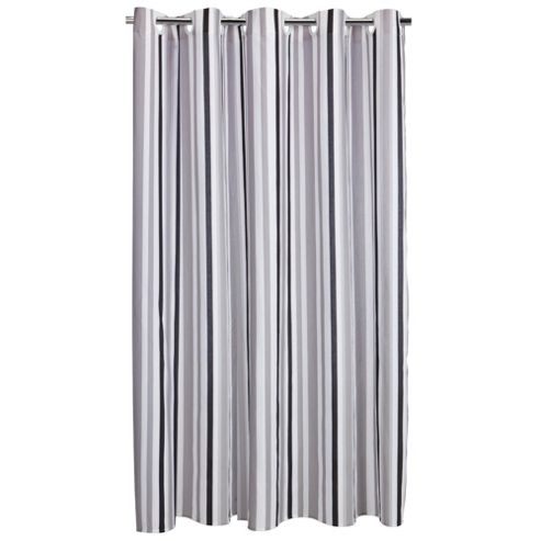 Tesco Linear Shower Curtain, Black