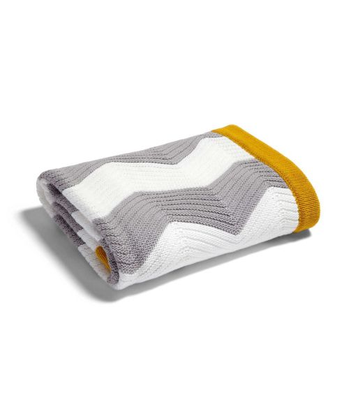 Mamas & Papas - Patternology - Chevron Knitted Blanket - 70 x 90cm