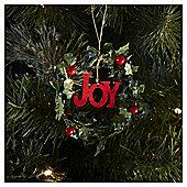Joy Wreath Christmas Tree Decoration