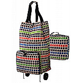 Ulster Weavers Collapsable Space Saving Shopping Trolley Bag in Mosaic Design