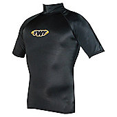 TWF UV Rash Vest Black SML 34/36 chest