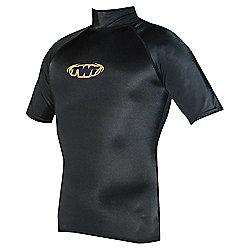 TWF UV Rash Vest Black SML 34/36 chest
