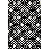 Safavieh Sydney Black / Ivory Tufted Rug