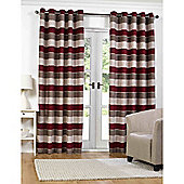 Torres Red Eyelet Curtains - 66x90 Inches (168x229cm)