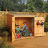 6ft x 3ft Deluxe Tongue & Groove Wallstore / Bike Shed (1.83m x 0.83m)