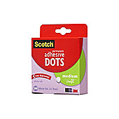 3M Scotch Permanent Adhesive Dots Medium Clear 010-300M