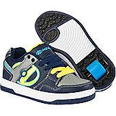 Heelys Flow Navy/Yellow/Grey Kids Heely Shoe - Blue