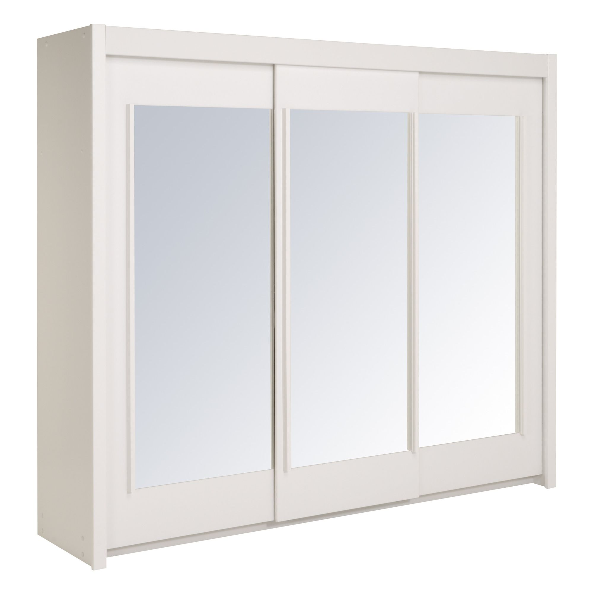 Parisot Essential Wardrobe with 3 Sliding Doors - White Megeve at Tesco Direct