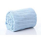 Belledorm Blue Cellular Baby Blanket 100% Cotton 70cm x 100cm