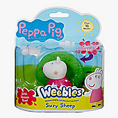 Peppa Pig Weebles Wobbily Figure and Base - Suzy Sheep