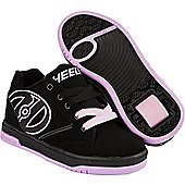 Heelys Propel 2.0 Black/Lilac Kids Heely Shoe - Purple