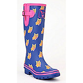 Evercreatures Ladies Wellies Owl Pattern Pink Lining 5