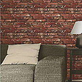 Rustic Red Brick Wallpaper