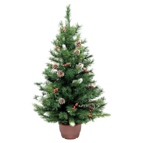 Buy Festive 3ft Winterberry Mini Pine Christmas Tree From