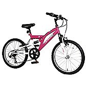 "Terrain Freemont 20"" Kids' Dual Suspension Mountain Bike, Pink"