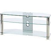 MMT CL1150 Clear Glass TV Stand for up to 50 inch