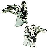 Wedding Couple with Kilt Cufflinks