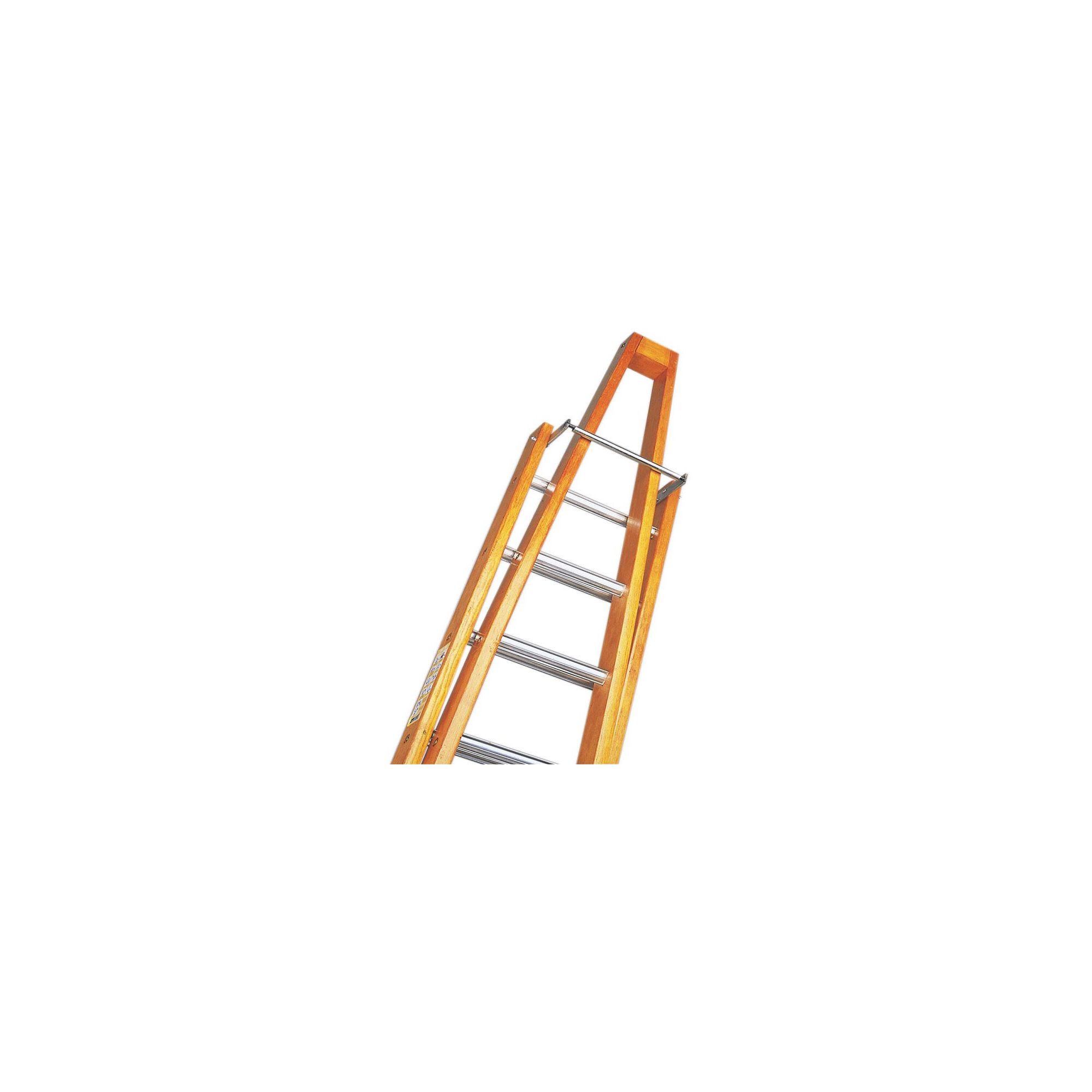 Trade 3.6m (11.8ft) Timber Single Window Cleaning Ladder (Alloy Tread)