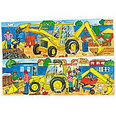 Bigjigs Toys BJ054 Duo Puzzle Digger