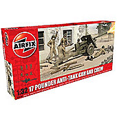 Airfix 1/32 Scale 17 Pouder Anti-Tank Gun and Crew