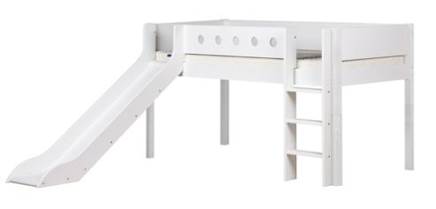Flexa Flexa White Midsleeper with Slide - White - White