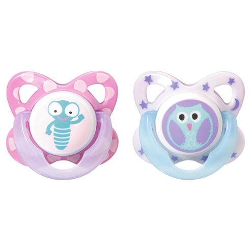 Tommee Tippee Novelty Soother 6-18 Months X2