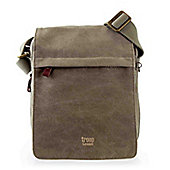 TRP0242 Troop London Classic Canvas Across Body Bag Brown