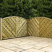 4FT Pressure Treated Curved Chevron Weave Panels - 1 Panel Only